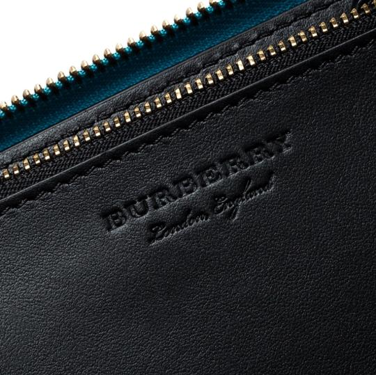 Burberry Burberry Bright Blue Leather Zip Around Wallet Image 8
