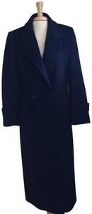 Forecaster of Boston Navy Long Classic Vintage Trench Coat