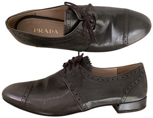 Prada Gray Brown Taupe Flats