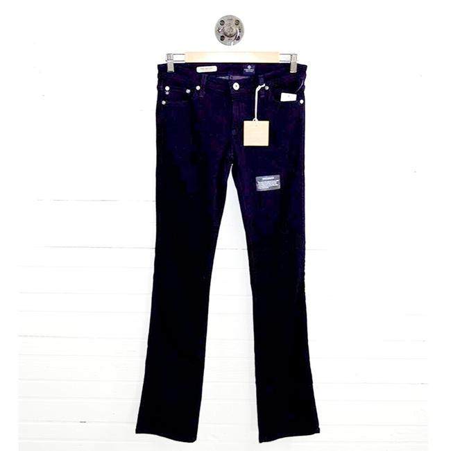 AG Adriano Goldschmied Blue Dark Rinse 'the Ballad' Slim #126-57 Boot Cut Jeans Size 28 (4, S) AG Adriano Goldschmied Blue Dark Rinse 'the Ballad' Slim #126-57 Boot Cut Jeans Size 28 (4, S) Image 1