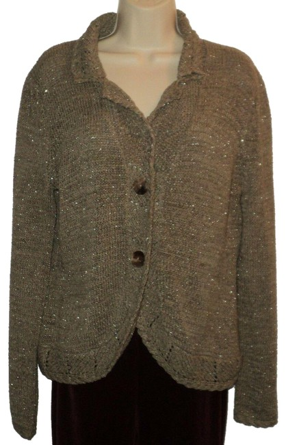 Item - Buttoned Cardigan New Brown-gray-olive Sweater