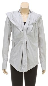 Donna Karan Gray Womens Jean Jacket