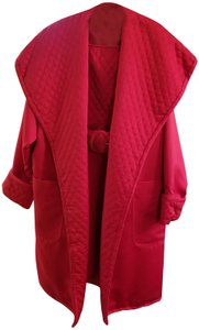 Victor Costa Quilted Coat Dress