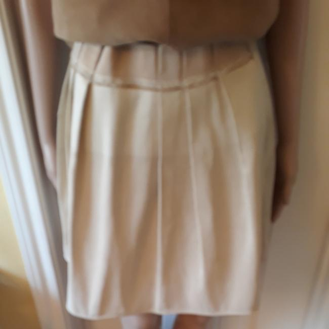 Item - Light Tan Perforated Feathered Skirt Size 6 (S, 28)