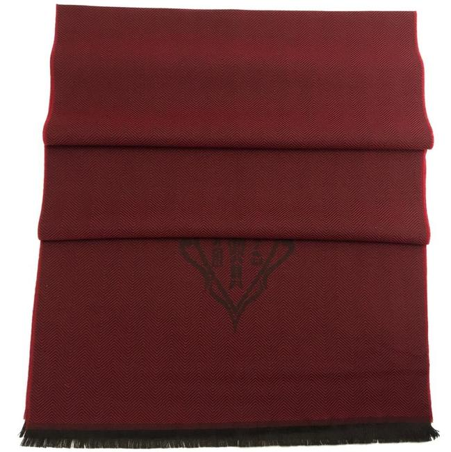 Item - Red Hysteria New 344993 Men's Crest Wool Red/Dark Burgundy Scarf/Wrap