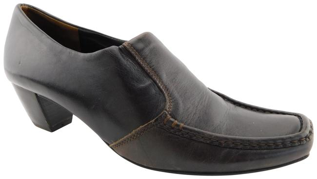 Item - Brown Leather Loafer Style Pumps Size US 6 Regular (M, B)