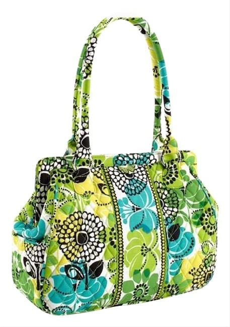 Item - Frame In Limes Up Cotton Shoulder Bag