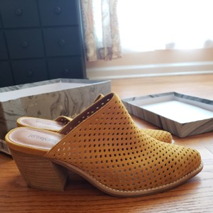 Jeffrey Campbell Mustard Suede Mules