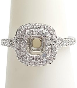 Tiffany & Co. GORGEOUS!! LIKE NEW CONDITION!! Tiffany & Co. Soleste Platinum and Diamond Semi-Mount Ring