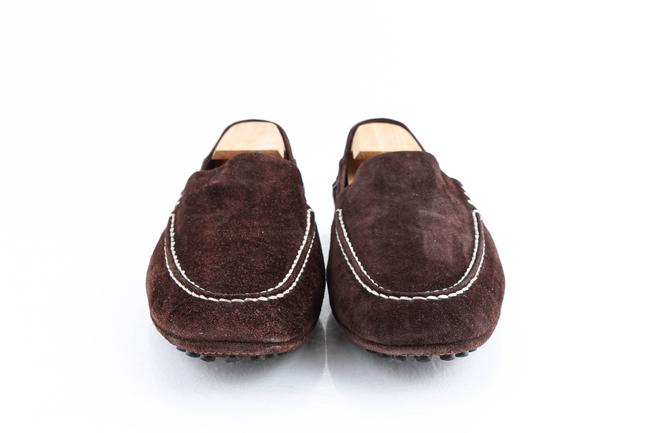 Louis Vuitton Brown Suede Slip On Loafers Shoes Louis Vuitton Brown Suede Slip On Loafers Shoes Image 2