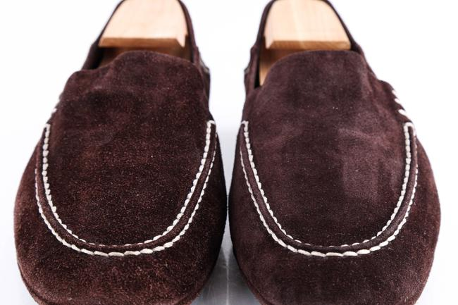 Louis Vuitton Brown Suede Slip On Loafers Shoes Louis Vuitton Brown Suede Slip On Loafers Shoes Image 12