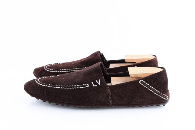 Louis Vuitton Brown Suede Slip On Loafers Shoes Louis Vuitton Brown Suede Slip On Loafers Shoes Image 3