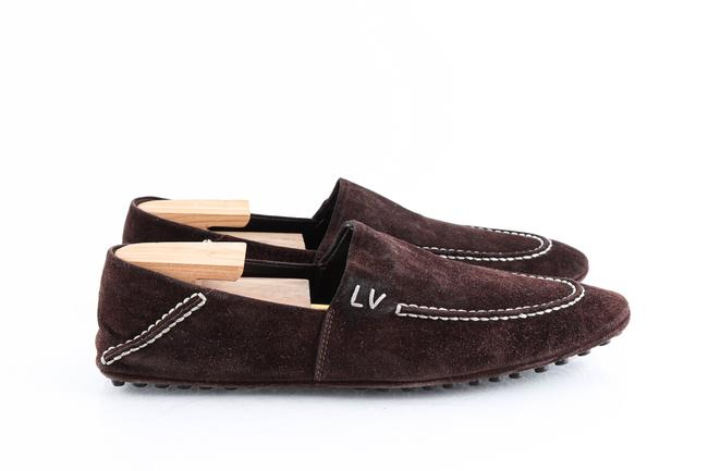 Louis Vuitton Brown Suede Slip On Loafers Shoes Louis Vuitton Brown Suede Slip On Loafers Shoes Image 4