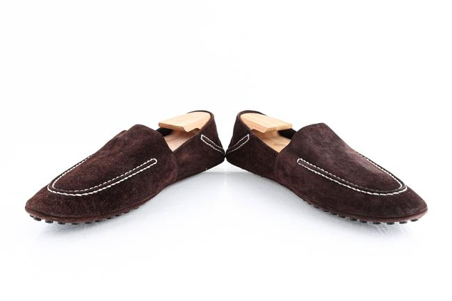 Louis Vuitton Brown Suede Slip On Loafers Shoes Louis Vuitton Brown Suede Slip On Loafers Shoes Image 6
