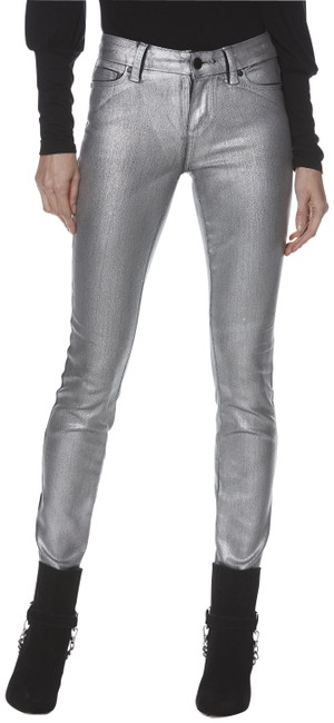 Item - Silver Coated Galaxy Skinny Jeans Size 26 (2, XS)