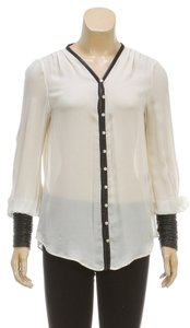 Elizabeth & James Button Down Shirt White