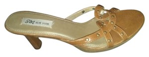 SM New York Studded Camel / Tan Sandals