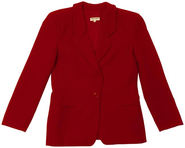 Item - Red Women's Lane Wool and Cashmere Blend - Blazer Size 12 (L)