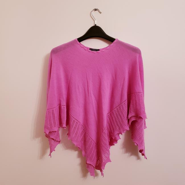 Item - Pink Knit Merino Wool/Cashmere Shawl Poncho/Cape Size OS (one size)