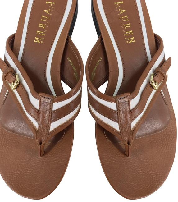 Item - Brown and Cream Kahli Sandals Size US 6 Regular (M, B)