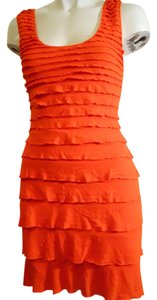 Max Studio short dress red orange on Tradesy