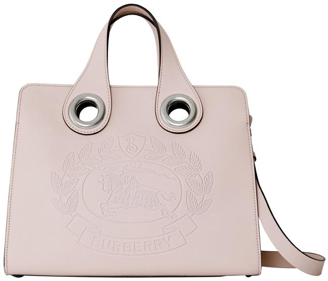 Item - Crossbody New Chalk Crest Grommet Pink Leather Tote
