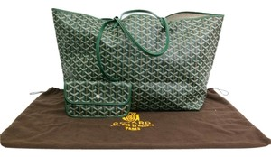 Goyard Saint Louis Gm Canvas/Leather Stock09530 Tote in Green