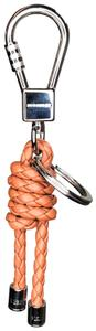 Burberry Burberry Leather Braided Knot Keychain Tan