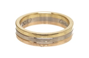 Cartier Cartier 750 Yellow Rose White Gold Trinity Ring 54