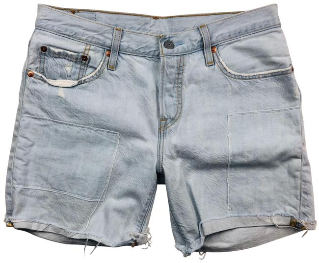 Item - Blue 501 Distressed Denim Shorts Size 4 (S, 27)