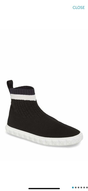 Item - Black High Top Coverall White Sneakers Size US 8 Regular (M, B)