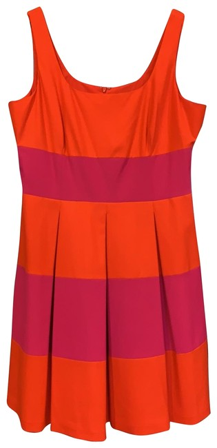 Item - Red and Fuchsia Short Cocktail Dress Size 16 (XL, Plus 0x)