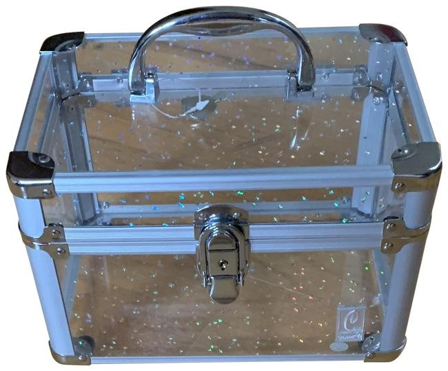 Unbranded Clear/Silver Box Make Up Cosmetic Bag Unbranded Clear/Silver Box Make Up Cosmetic Bag Image 1