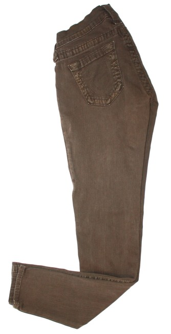 Item - Brown Cotton Blend Skinny Jeans Size 24 (0, XS)