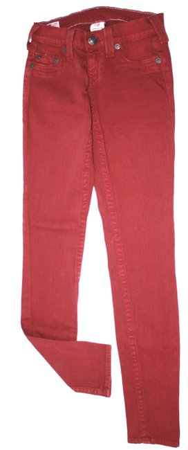 Item - Red Burgundy Skinny Jeans Size 24 (0, XS)