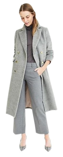 Item - Grey Nwt. Collection Long Brushed Wool Topcoat Coat Size 10 (M)