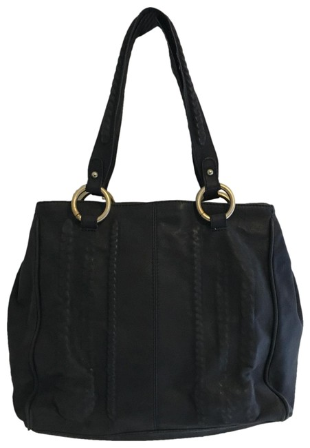 Item - Interior Chain Blue Leather Tote