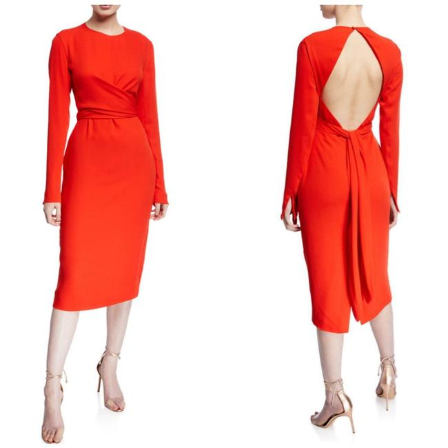 Item - Red Orange Peridot Mid-length Cocktail Dress Size 0 (XS)