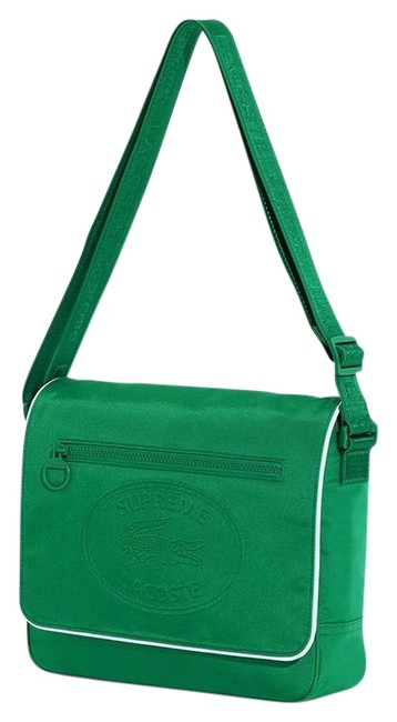 Supreme Crossbody New Limited Edition Sup X Lacoste Laptop Work Everyday Green White Polyurethane Messenger Bag Supreme Crossbody New Limited Edition Sup X Lacoste Laptop Work Everyday Green White Polyurethane Messenger Bag Image 1