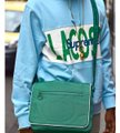 Supreme Crossbody New Limited Edition Sup X Lacoste Laptop Work Everyday Green White Polyurethane Messenger Bag Supreme Crossbody New Limited Edition Sup X Lacoste Laptop Work Everyday Green White Polyurethane Messenger Bag Image 3