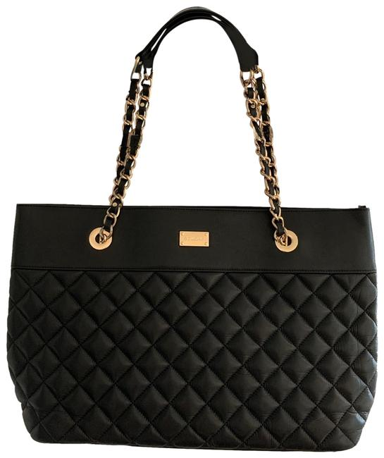 Item - Large Quilted Black Leather Tote
