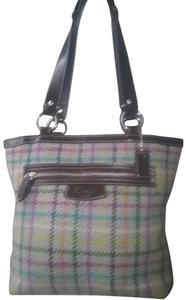 Coach Tag Wool Tote in SV/Tattersall