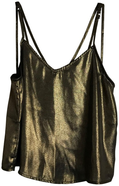 Item - Gold/Brown Shimmer XS New Gold/Brown In Tank Top/Cami Size 2 (XS)
