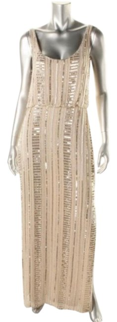 Item - Beige Sexy Long Night Out Dress Size 14 (L)
