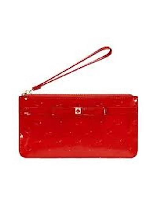 Item - Jemima Camelia Street Chilired Red Leather Wristlet