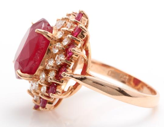 other 11.40CTW Natural Red Ruby & DIAMOND in 14K Solid Rose Gold Women Ring Image 4