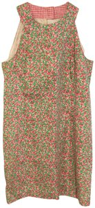 Lilly Pulitzer short dress White/Pink with florals Sleeveless on Tradesy