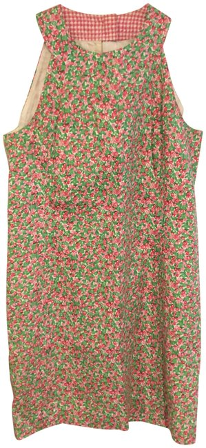 Preload https://img-static.tradesy.com/item/26206966/lilly-pulitzer-whitepink-with-florals-sleeveless-short-casual-dress-size-10-m-0-1-650-650.jpg