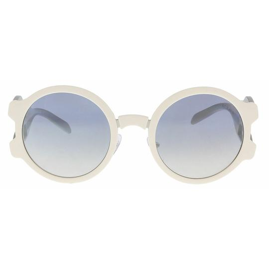 Prada Light Blue Silver Lens Women's Sunglasses Gradient PR13US 54 Round Image 1