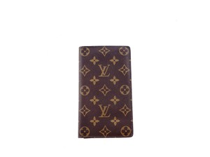 Louis Vuitton Rare Vintage Monogram Canvas Leather Oversized Long Travel Wallet - item med img